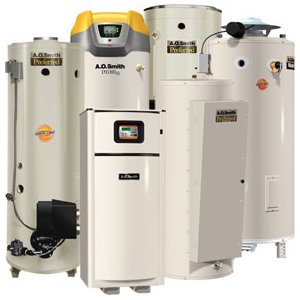 tanked and tankless water heaters by AO Smith